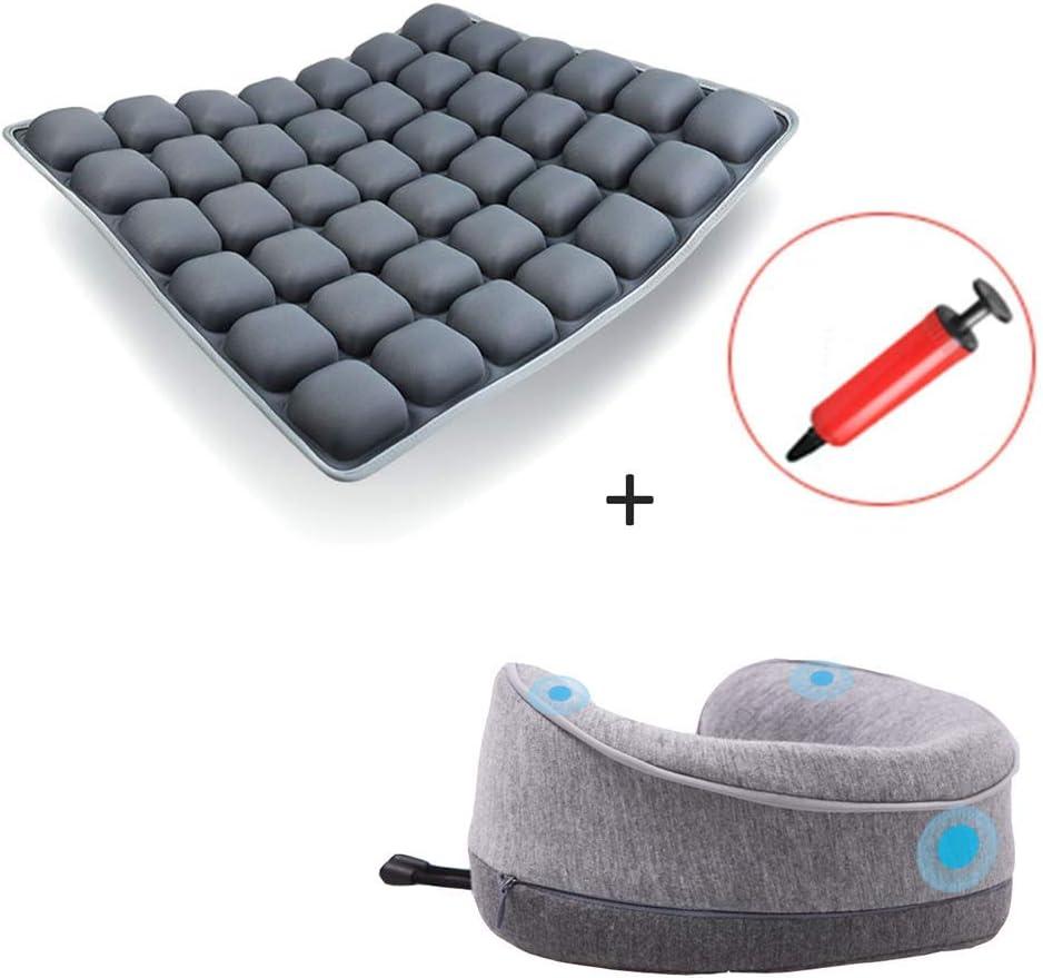ZCPDP Cojín antiescaras Inflable Corrección Cola Vértebra Soporte de cinturón Transpirable Conjunto de Instrumentos para el Cuello Sillas de Ruedas para Ancianos Cojines Butt Pad de Oficina