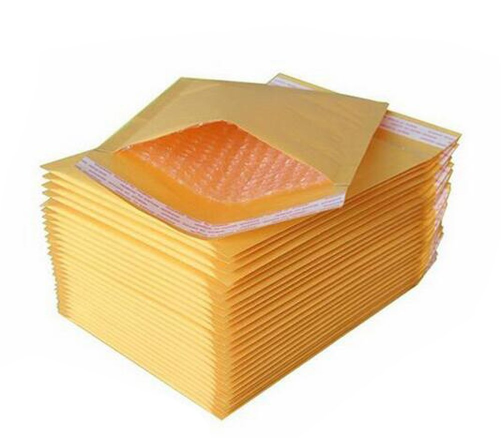 100PCS Self Seal Mailer Kraft Bubble Mailers Padded Envelopes Bubble Shipping Envelopes Poly Wrap Mailers erioctry