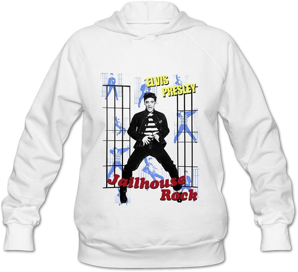 Vintage Elvis Presley The Jail House Rock Women's Hooded Sweatshirt Black