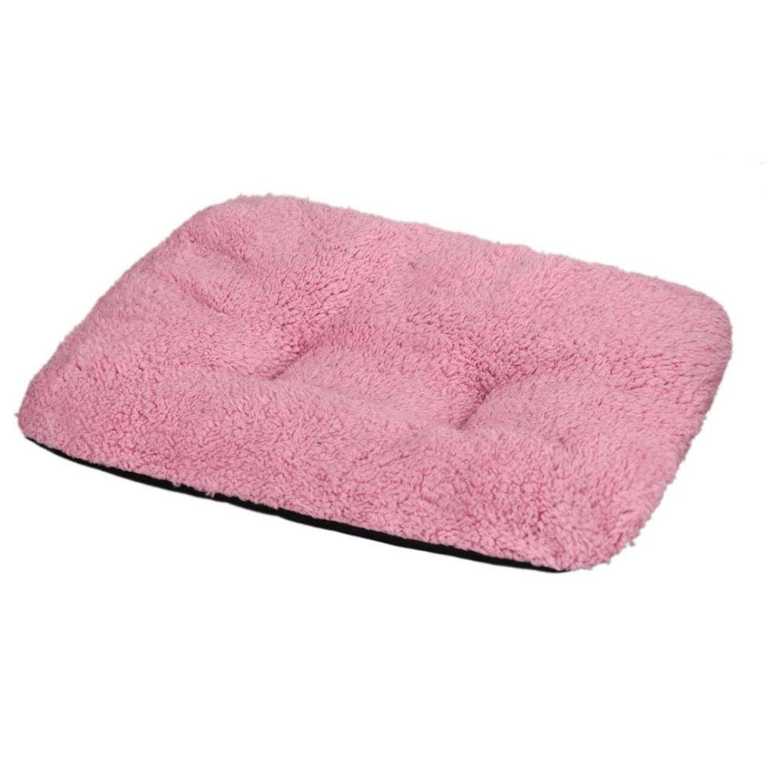 Perman Puppy Blanket Pet Cushion Dog Cat Cotton Carpet Bed Soft Warm Sleep Mat (Pink )