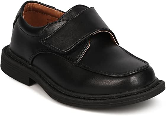 New Boy School Rider Ricky-913F Leatherette Square Toe Banded Dress Shoe