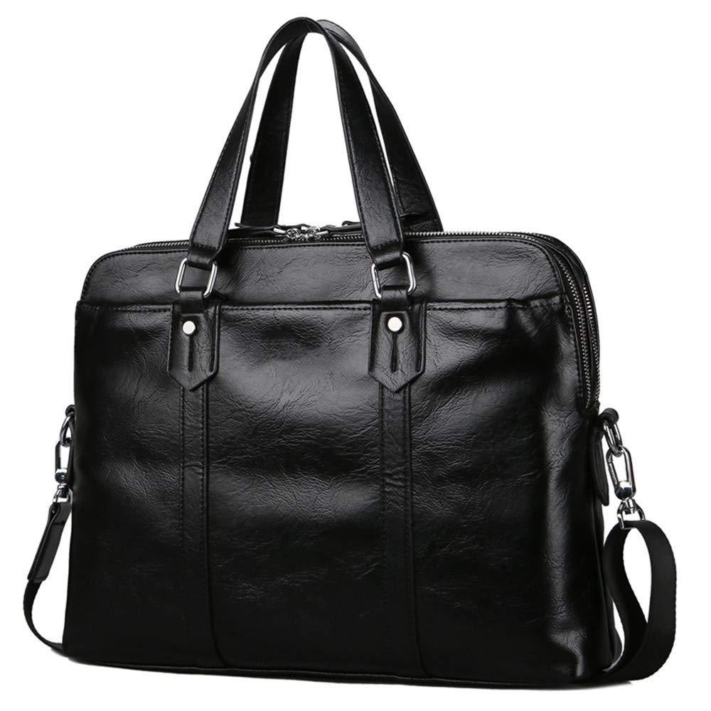 Lianaic Laptoptasche Geschäft Männer Tote Doppel Tasche Leder Mode Laptop Tasche Männer Tasche Schulter Aktentasche Tasche