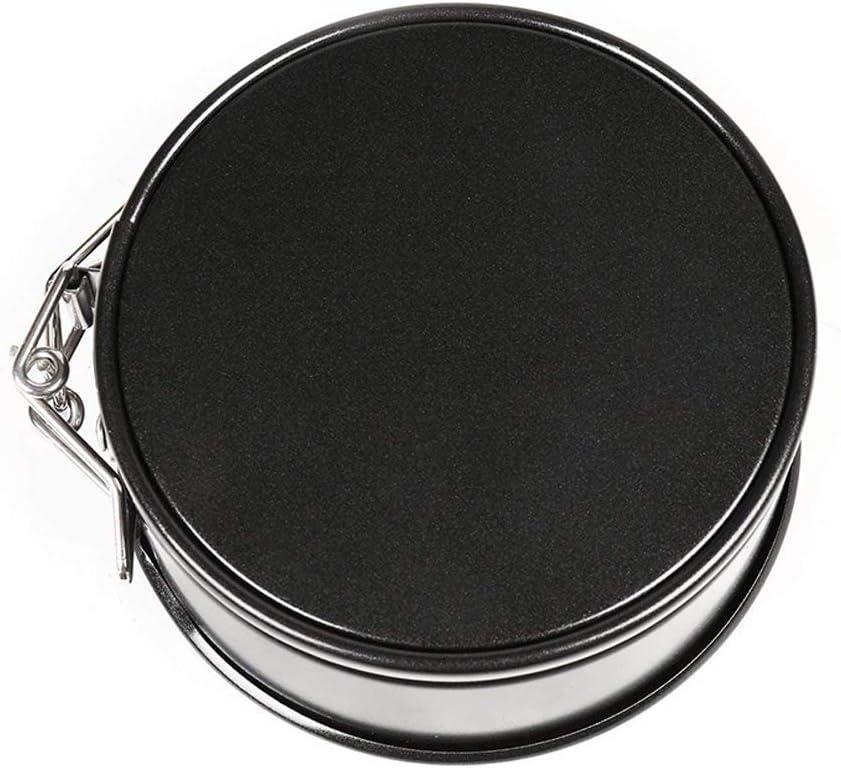 CANDeal 4 piezas 10cm Springform Pan Moldes para Pasteles Pan De Tarta De Queso Molde de Torta para Hornear con Fondo extra/íble y 1 raspador de silicona
