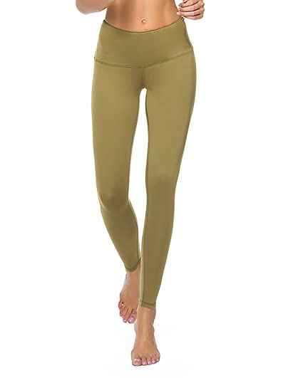 2b035b8010 Crafeel Womens Yoga Pants High Waisted Gym Workout Leggings Fitness Running  Compression Tights(Green XXL): Amazon.co.uk: Clothing