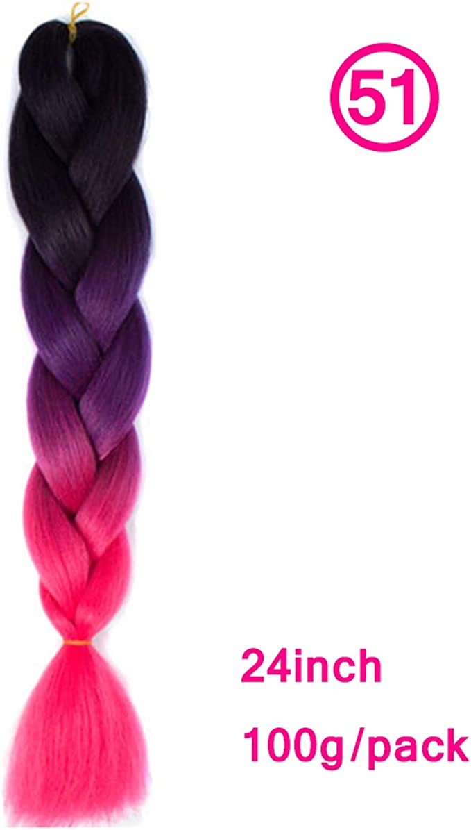 24inch sintético Trenzas Hair100g / pack Pelucas del pelo rubio ...