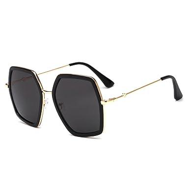 2f08e721276 Amazon.com  foreign trade sunglasses women s anti-UV trend sunglasses 2018  new metal frog mirror