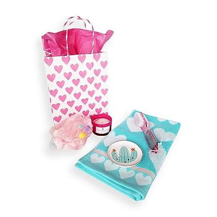 Día de San Valentín Baño Bundle, con Betsey Johnson corazón toalla de mano, corazones