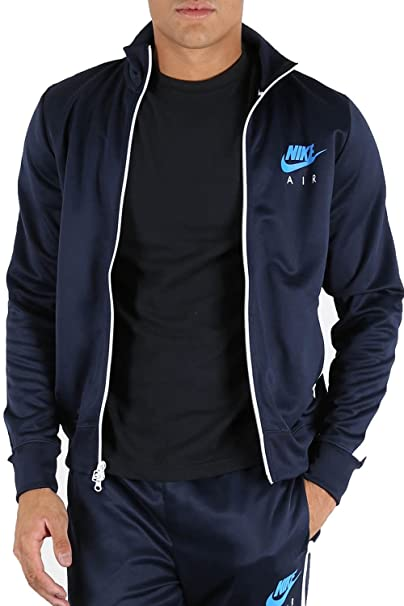 Mens Nike Air Front Zip Up Pockets Contrast Panel Long