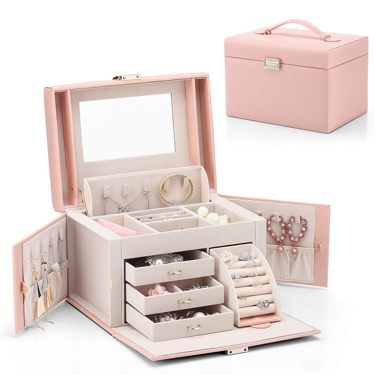 Jewelry Box, Faux Leather Medium Jewelry Organizer