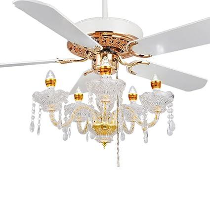 Ceiling Fans Crystal Light Restaurant Crystal Fan Light Chandelier Electric Fan  Light Fan With Light European