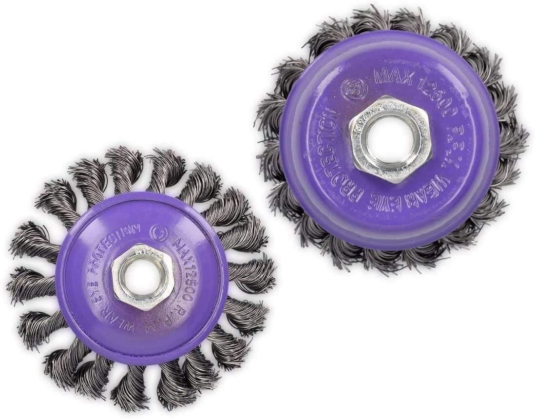 8x Topfbürste Drahtbürste Φ75mm M14 Gezopft Kegelbürste Für Flex Winkelschleifer