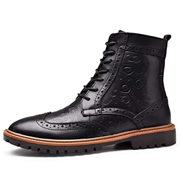 Yra Herren Stiefel Large Size High Tops Echtes Leder Martin Stiefel Kleid  Schuhe Brogue Muster Chelsea 5938099613