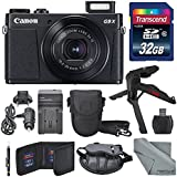 Canon PowerShot G9 X Mark II Digital Camera (Black) W/32GB SD Card + Table Top Tripod + AC/DC Turbo Travel Charger+ Fibertique Cleaning Cloth and Complete Bundle
