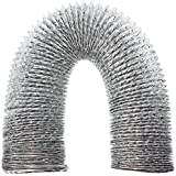SPARES2GO Aluminium Flexible Vent Hose Exhaust Pipe for Dimplex Air Conditioner (4 / 100mm)