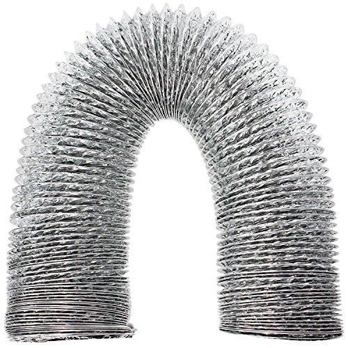 "SPARES2GO Aluminium Flexible Vent Hose Exhaust Pipe for LG Air Conditioner (4"" / 100mm) -  04-ACVH-315"