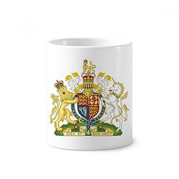 DIYthinker Titular de cerámica león del unicornio Corona Bretaña emblema nacional del Reino Unido taza del
