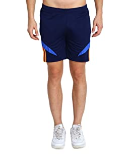 M.R.D. Running & Sports Shorts for Men with Zipper Pockets (Free Size Waist 28 to 34 inch) Navy