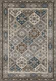 Art Carpet Arabella Collection Comfort Panel Woven Area Rug, 7'10'' x 10'6'', Gray/Brown/Blue