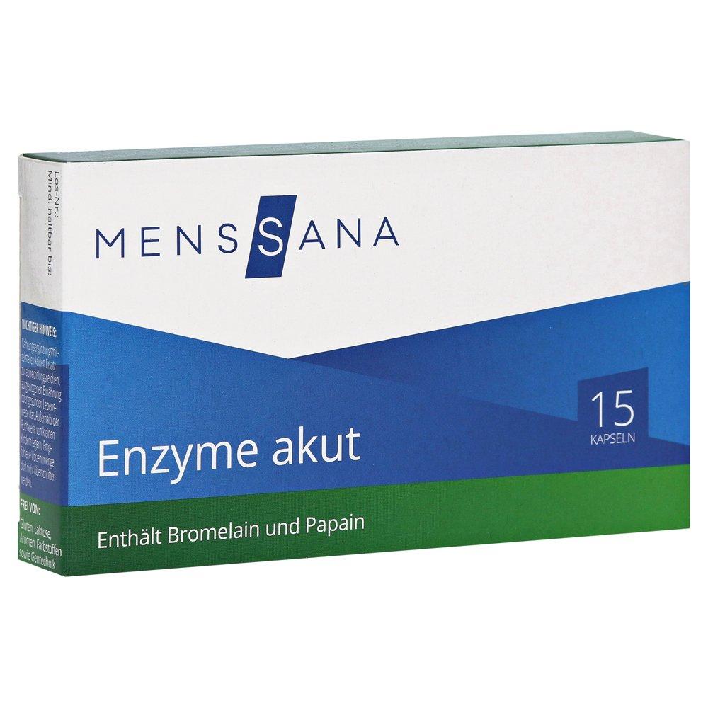 enzimas aguda Mens Sana - Cápsulas 15 ST: Amazon.es: Salud y ...