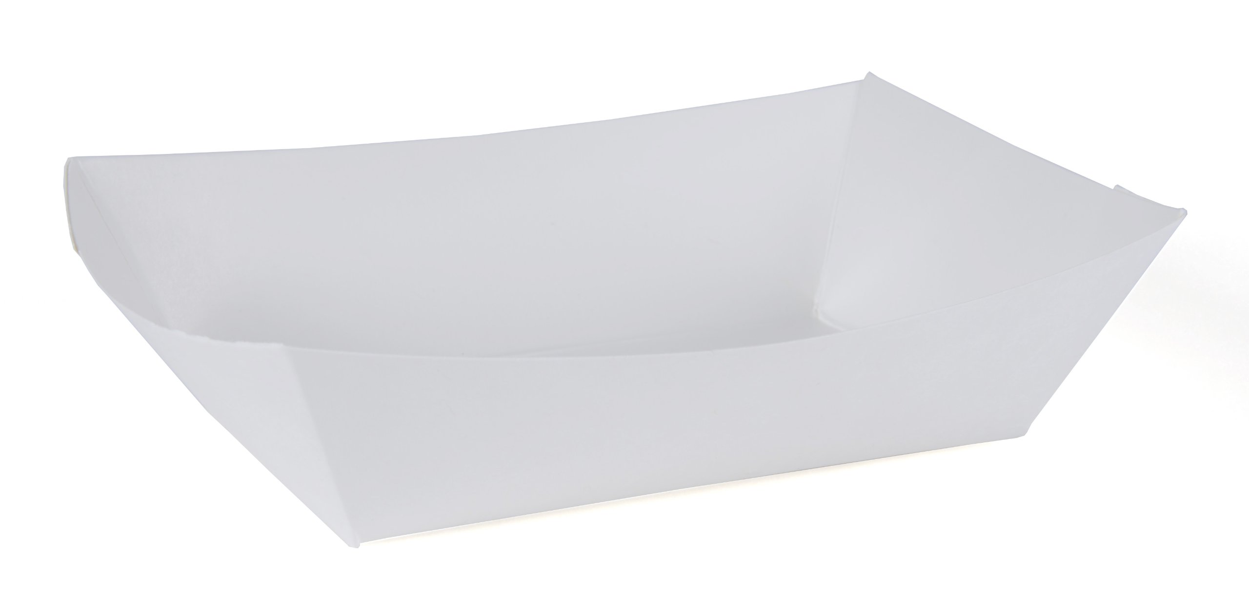 Southern Champion Tray 0554 #200 Paperboard Food Tray / Boat / Bowl, 2 lb Capacity, White (Pack of 1000) by Southern Champion Tray (Image #1)
