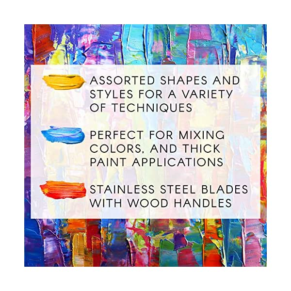 Studio-71-5-Piece-Painting-Knife-Set–Versatile-Stainless-Steel-and-Wood-Palette-Paint-Knife-Set-for-Mixing-Paints-Thick-Paint-Applications-and-More