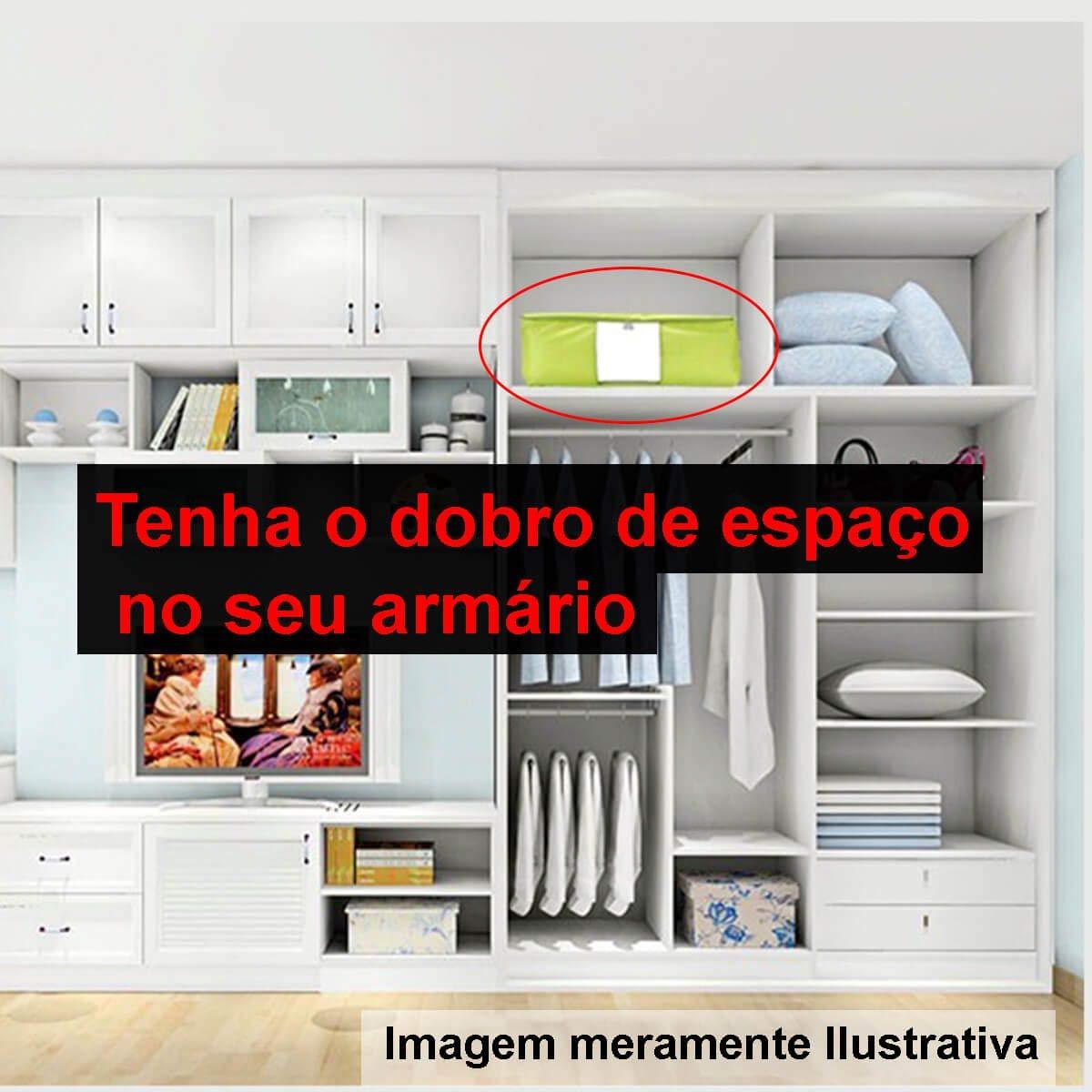 a98433057 Kit 06 Saco Organizador Closet Edredon Cobertor C Ziper G  Amazon.com.br   Ferramentas e Construção