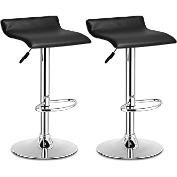 Amazon Com Winsome Wood Air Lift Adjustable Stools Set