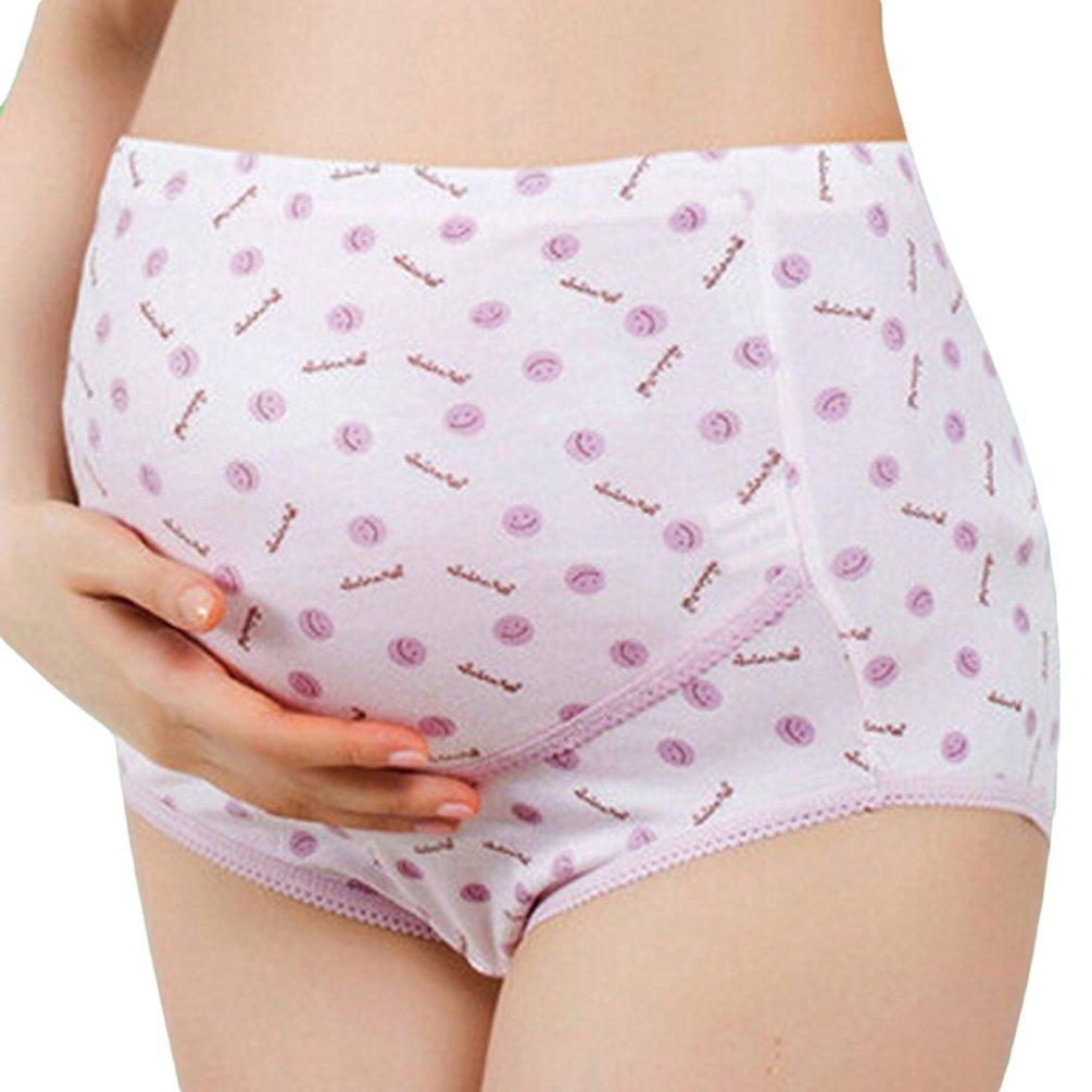 Ketamyy Grossesse Slip Taille Ajustable Confortable Slip Haute Taille Femme Impression Culotte Respirant Slip Short Pour Femme Enceinte