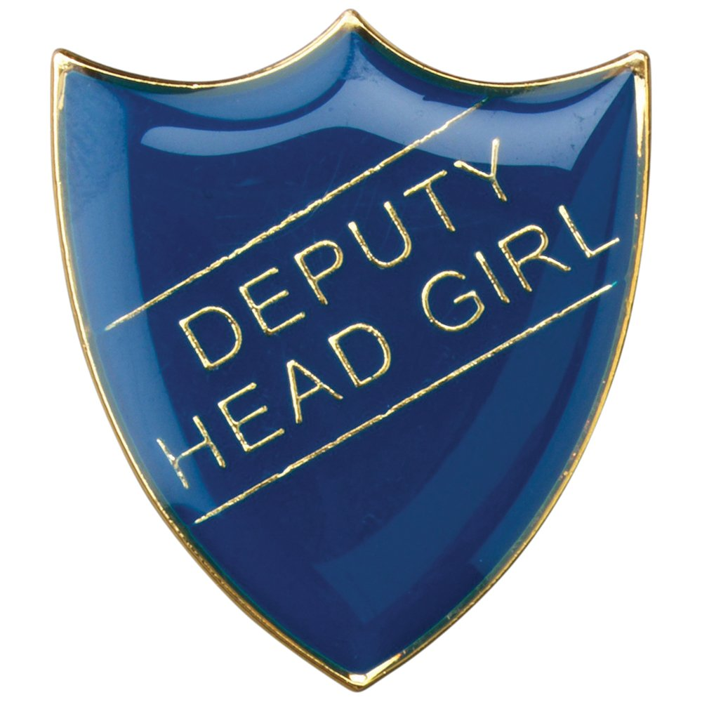 Deputy Head Girl Shield Badge Blue Large 3cm GW/SB4