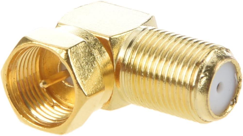 SODIAL Avvitare Ladattatore//Connettore Coassiale Female Antenna F Femmina