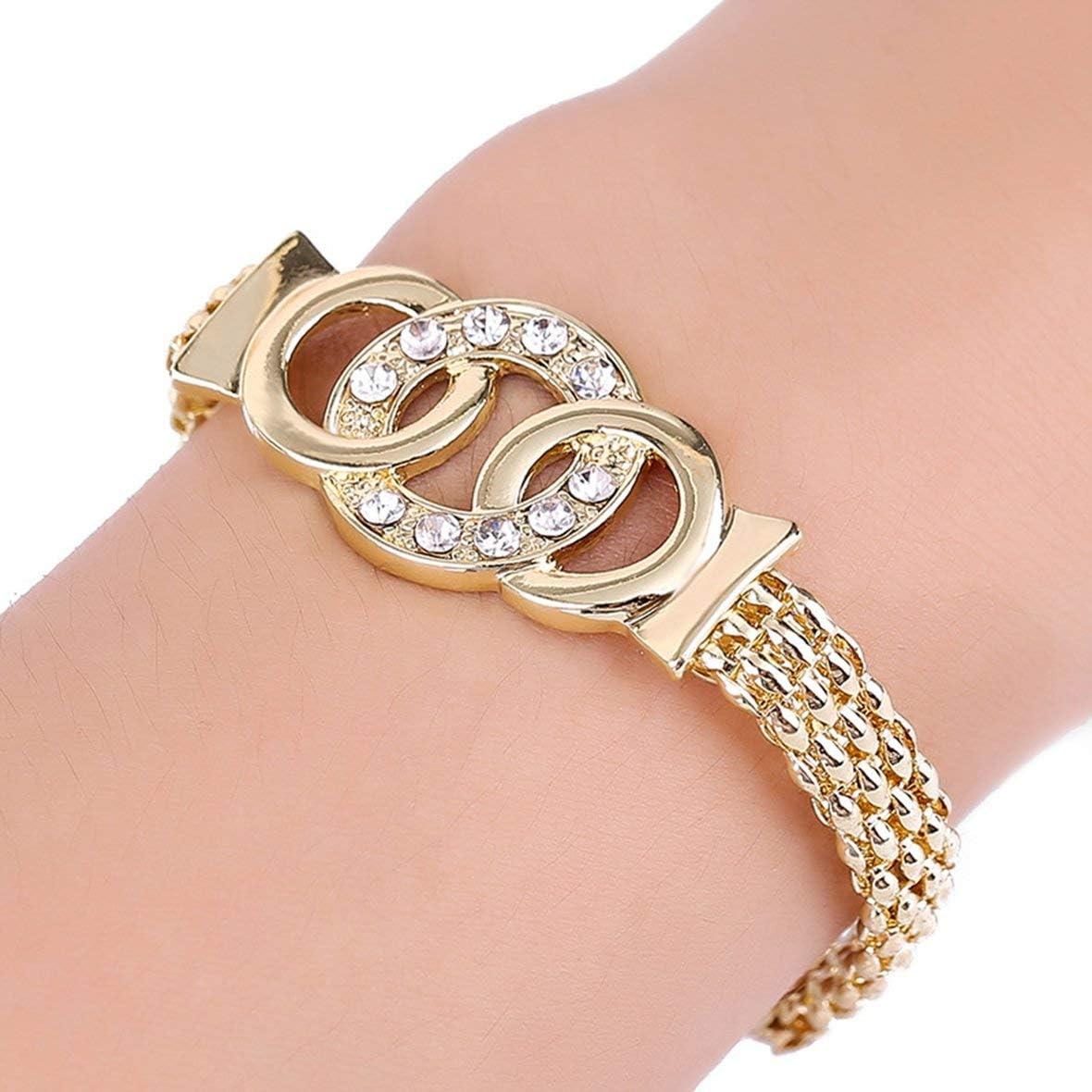 Ohrringe Schmuck Heaviesk 4 Teile//Satz Halskette Anh/änger Ohrringe Schmuck-Set Elegantes Design Halskette Ring Frauen Schmuck