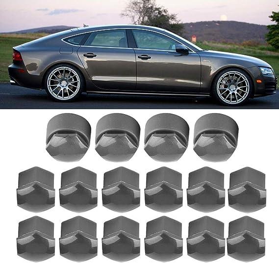 Silver Aramox Screw On Lug Nut Covers Caps 20pcs Car Hub Screw Cover 17mm Nut Car Wheel Auto Hub Screw Protection Anti-theft Cover Cap