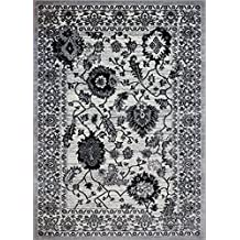 "Oakville Cream Area Rug Contemporary Modern Traditional Machine Made Rug Carpet (3'11"" x 5'3"")"