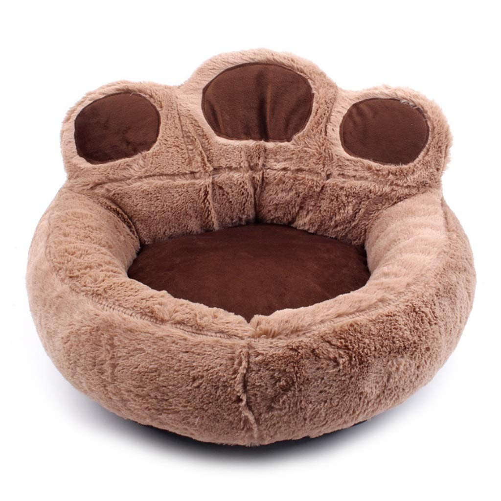 Brown M Brown M QQQWWW Pet Bed Pet Round Footprint Pet Pad, Soft Removable Wash Pad Size Selection (color   Brown, Size   M)