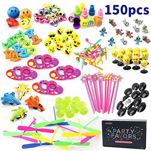 Amy&Benton Party Favor Toys for Kids Birthday 150 PCS Pinata Filler Toys Carnival Prizes for Boys and Girls Treasure Box / Chest Treat for Classroom]()