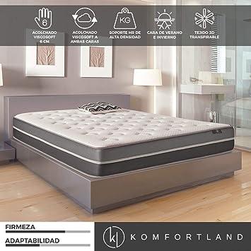 Komfortland Colchón viscosoft reversible Memory Soft con 6 cm de Viscosoft, Altura 23 cm, Medida135x180 cm: Amazon.es: Hogar