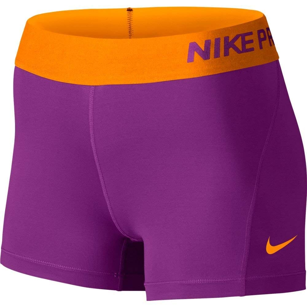 Nike Women's Pro Cool 3-Inch Training Shorts (Orange/X-Small)