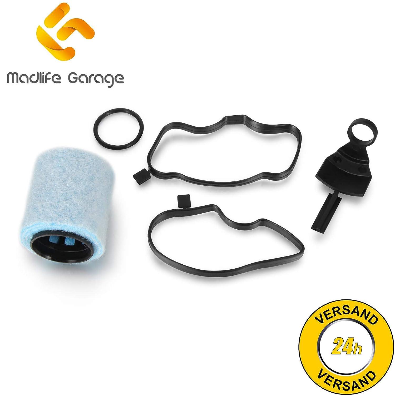 madlife Garage 11127793164//ölabscheider filtro c/árter V/álvula de ventilaci/ón