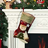 Christmas Stocking, Moonmini 3D Big Size Xmas Socks Classic Cute Christmas Hanging Decoration Stockings - Snowman