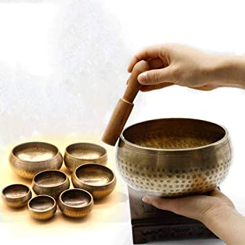 Nepalés hecho a mano Buda sonido tazón de cobre puro yoga ...