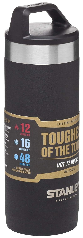 Stanley 10-02661-002 MUG Isotherme Master Series 0.5L Noir Acier Inoxydable, Unique