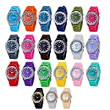 Wholesale Lots of 10pcs Unisex Men Women Girl Ultra-thin Silicone Jelly Gel Quartz Wrist Watches