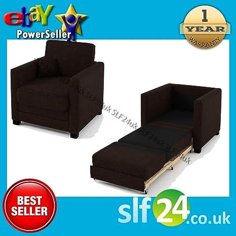 Smart Line Furniture Ltd. Fantastic Brazo Silla sofá Cama en Tela – 9 Colores Disponibles