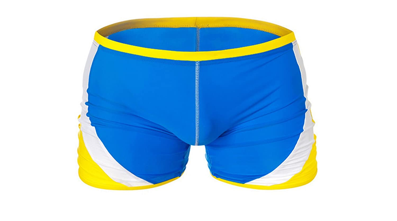 MYMYU Mens Color Swim Briefs Square Leg Swimwear Trunks Beachwear Shorts