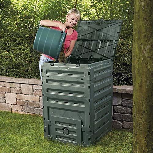 Compostador de jardín 300l 60 x 60 x H90 cm rama Eco-Master ...