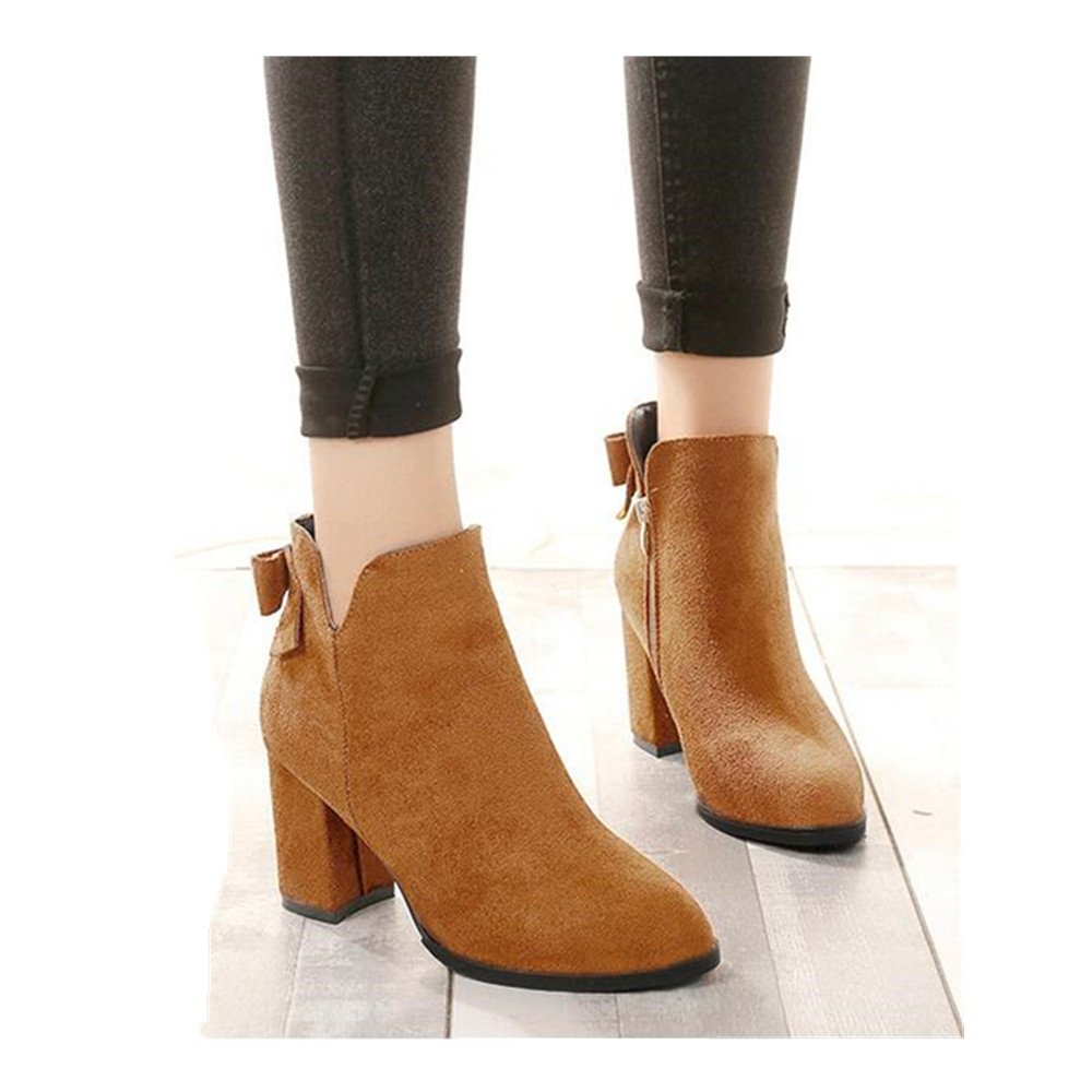 Into Womens Fashion Ankle Booties Mid Heel Boots Shoes