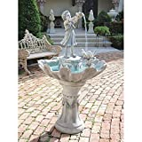 Water Fountain – 4 Foot Tall L'Acqua di Vita Garden Decor Fountain – Outdoor Water Feature
