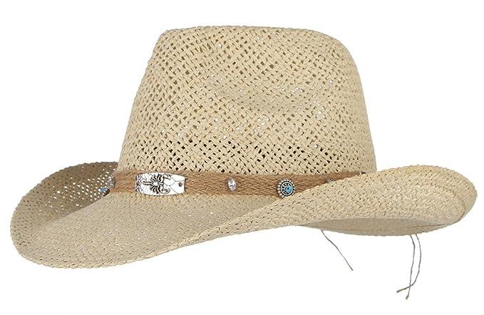 f9a836e1dfef8 GEMVIE Men Cowboy Hats Foldable Fedora Roll Up Sun Beach Hat Decorative  Retro Accessory Beige