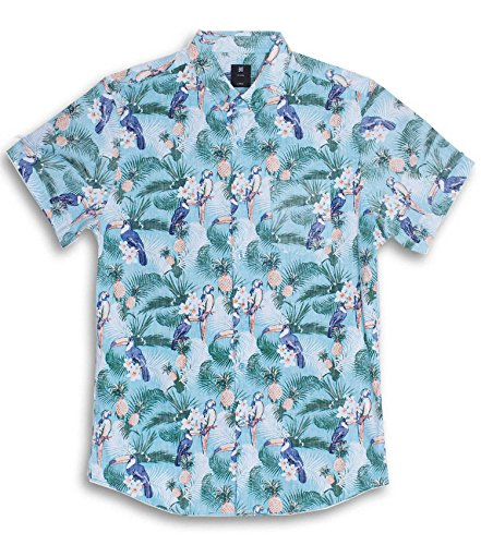 97f7ee24 Visive Hawaiian Shirt For Men Pool Party Short Sleeve Button Down (Parrot  Flamingo, L) - Buy Online in Oman. | Apparel Products in Oman - See Prices,  ...