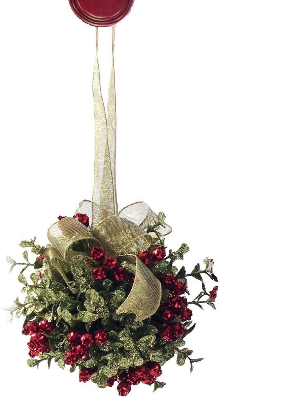 Amazon.com: Ganz Mistletoe Door Kiss Ball (KK16): Home & Kitchen